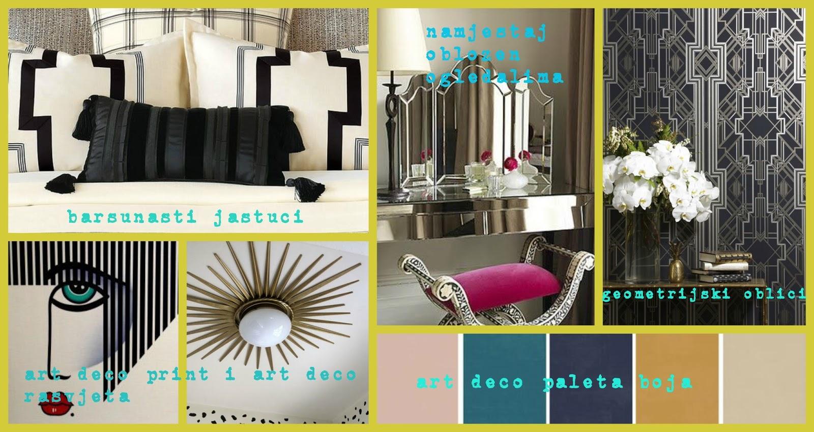 Art Deco stil u uređenju interijera