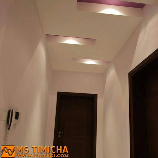 Decoration couloir decoration platre plafond - Decoration platre couloir ...