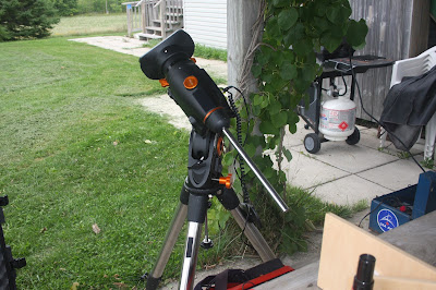 Celestron CGEM equatorial mount being tested