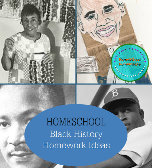 Black History Homeschool Homework Ideas