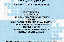 lowongan kerja staff admin keuangan busana muslim mirtazani bandung
