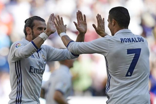 Cristiano Ronaldo Gareth Bale Real Madrid Eibar