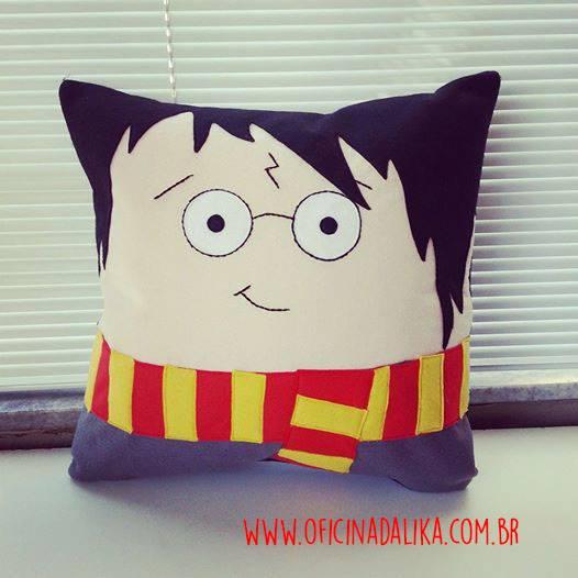 Aparador Sala De Jantar Rustico ~ Eu Amo Artesanato Almofada do Harry Potter com molde