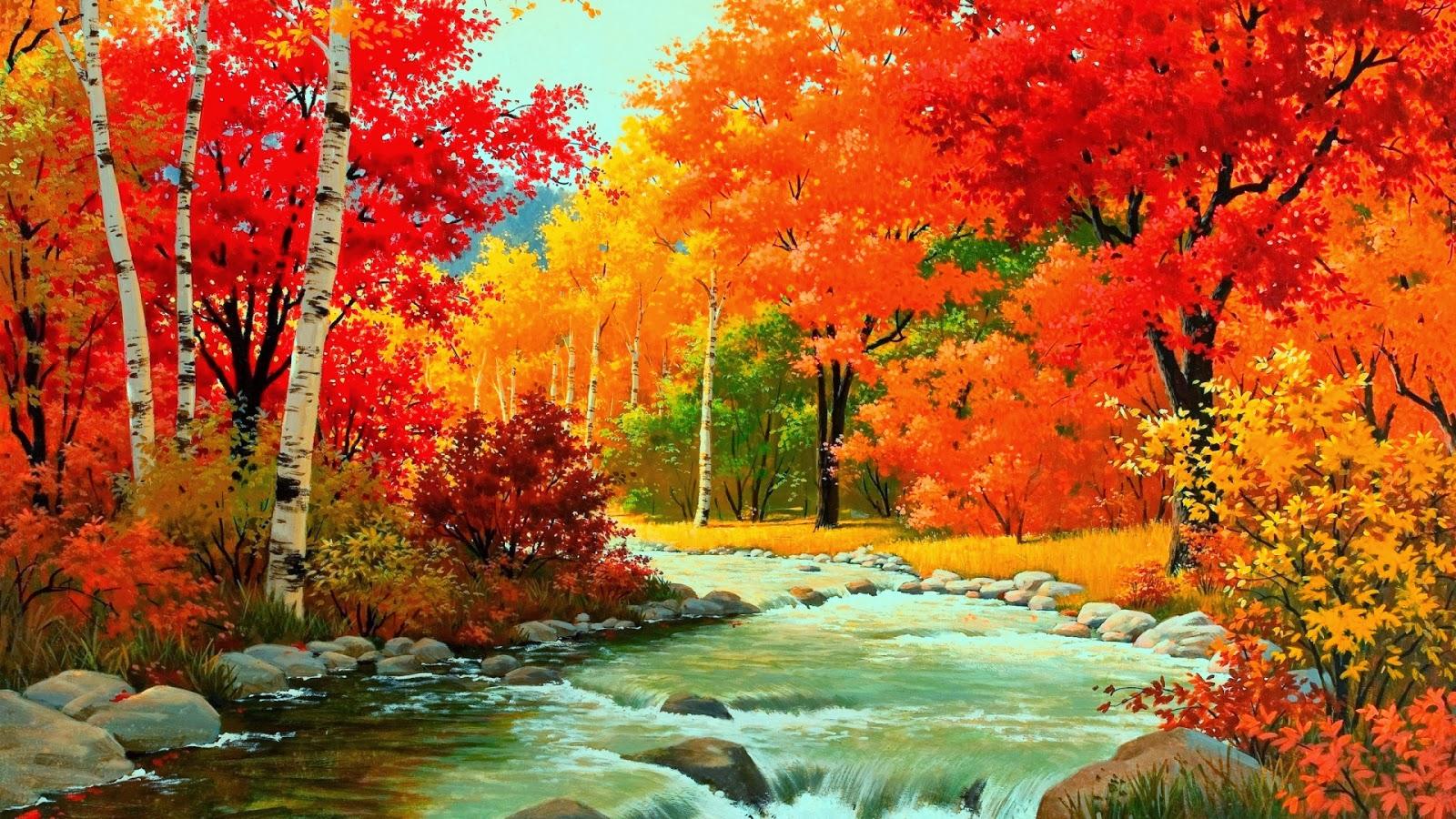 autumn nature river - photo #19