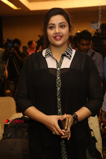 Tamil Actress Meena Latest Stills in Black Dress at TSR TV9 Awards Press Meet  0054.JPG