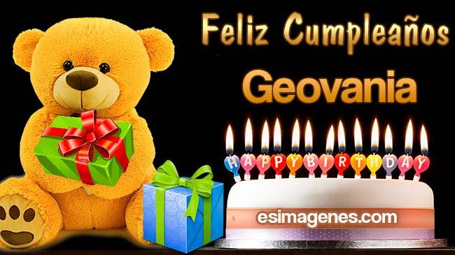 Feliz Cumpleaños Geovania