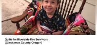 Quilts for Riverside Fire Survivors