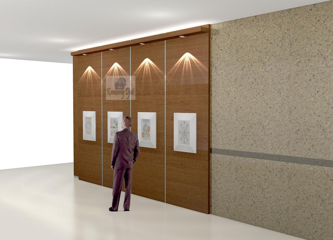Backdrop Kantor Bahan Multiplek Hpl Pigura Poster Kantor