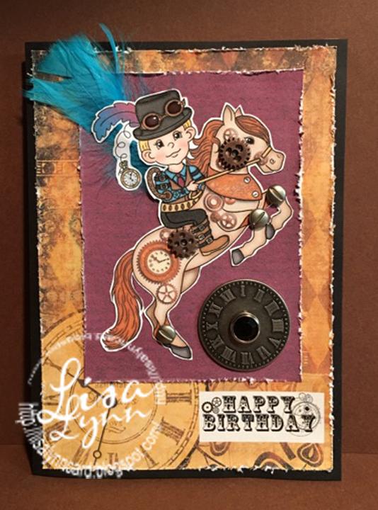 lisa lynn u0026 39 s card creations  steampunk happy birthday