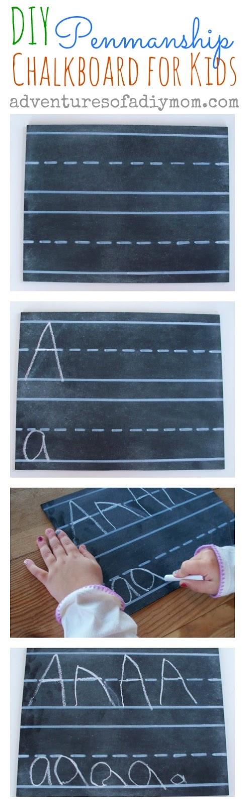 DIY Penmanship Chalkboard for Kids