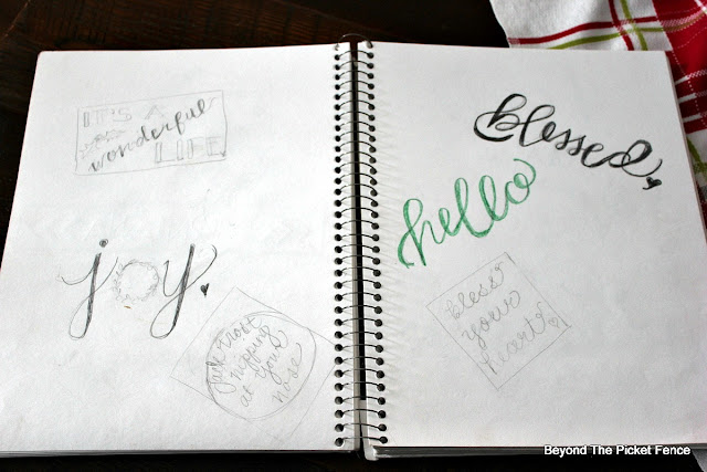 hand lettering, sketchbook, DIY, https://goo.gl/UQPOsP