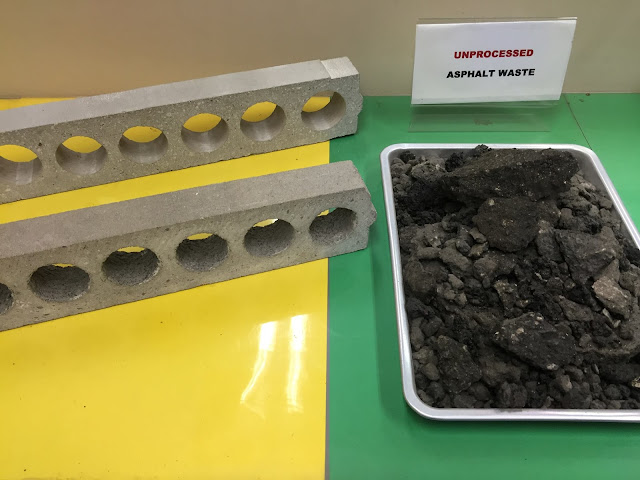 unprocessed asphalt waste