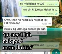 no need lah post macam