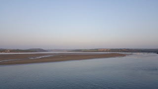 Last of the sunlight over the camel estuary, Padstow, Cornwall