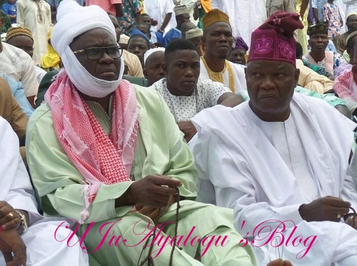 'Sheik' Fayose Spotted At Sallah Prayer With Muslims In Ekiti ...See Photos
