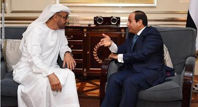 السيسي وولي عهد أبو ظبي