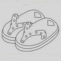 De Y Pintar Baño Views Colorear Para Dibujo Sandalias Pwtxiuokz