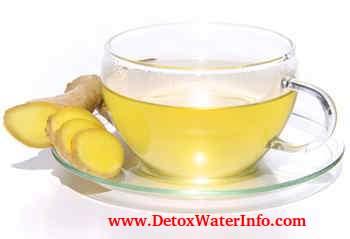 Ginger tea detox to lose weight