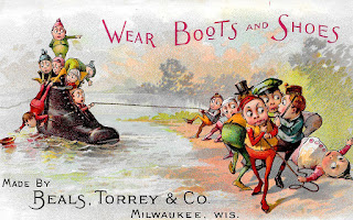 shoes boots background image antique advertisement clipart