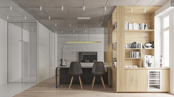 Thiết kế nội thất căn hộ chung cư nhỏ 42m2- 4