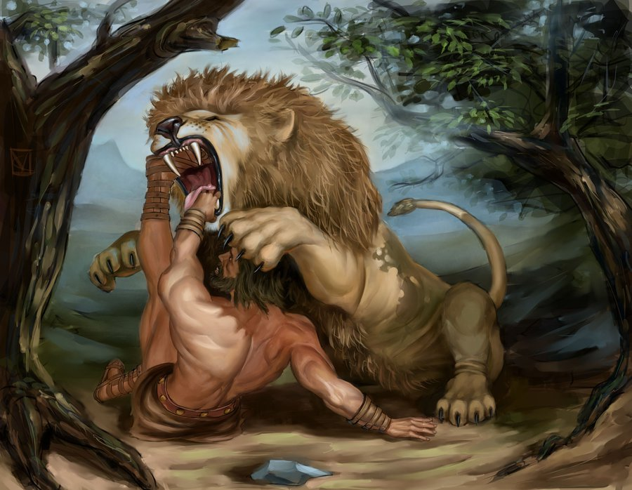 hercules vs nemean lion - 900×698