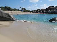 Beach and boulders on Virgin Gorda