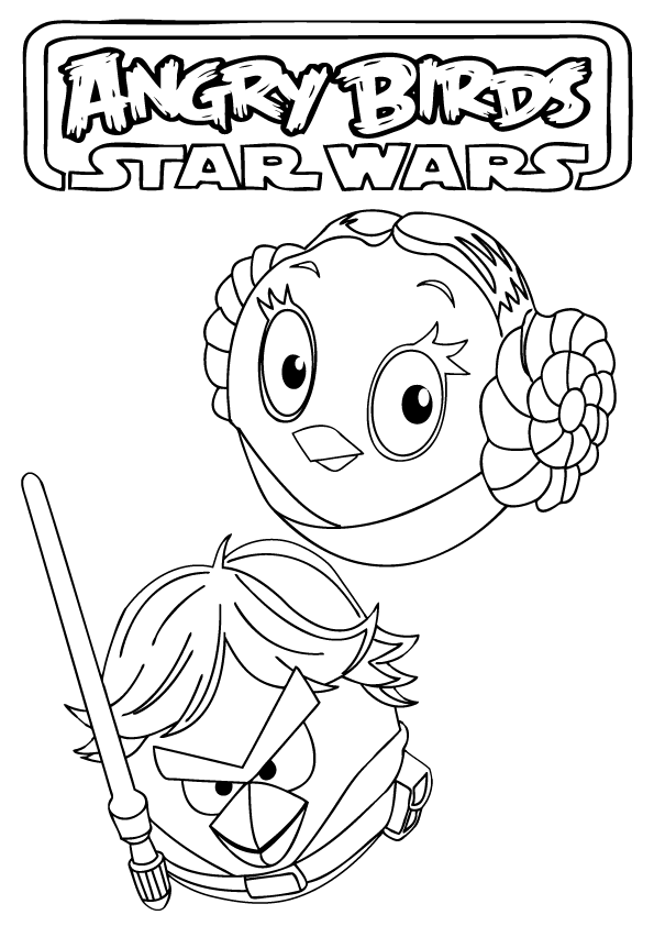 Angry birds star wars coloring pages free printable - Coloriage angry bird star wars ...