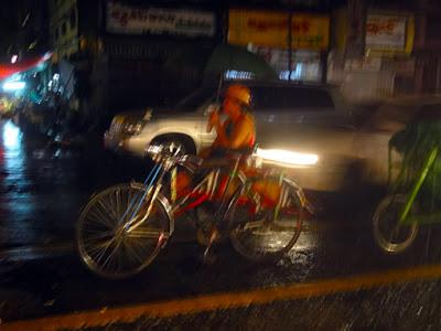 rainy night in Yangon Chinatown