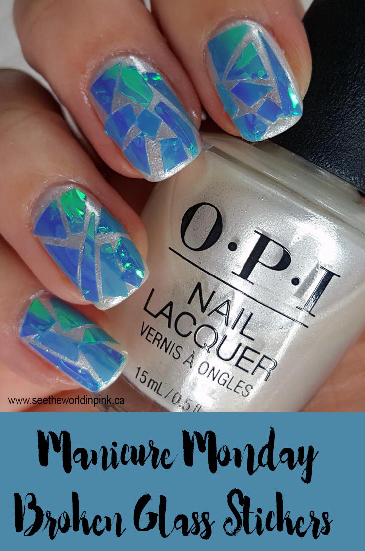 Manicure Monday - Broken Glass Nails