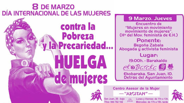 Cartel de la jornada sobre el movimiento feminista vasco