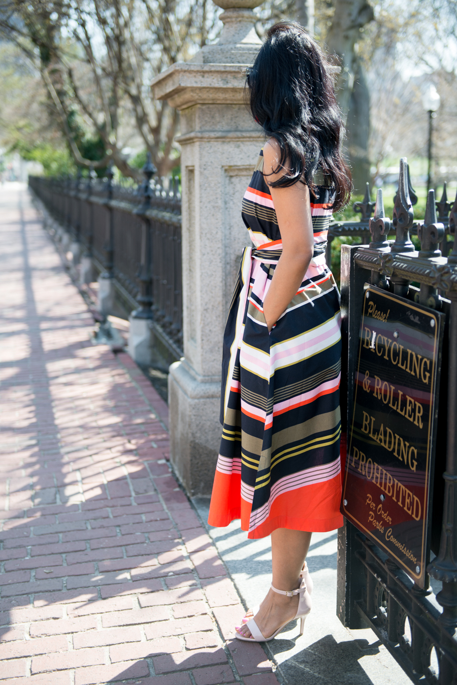 spring fashion, spring dress, feminine style, curvy, aline, pearshape, brunch dress, wedding guest dress, petite fashion, petite style, girly, candy colors, ann taylor, tassel, spring dresses