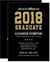 Graduation Party Invitation | 2018 Graduate
