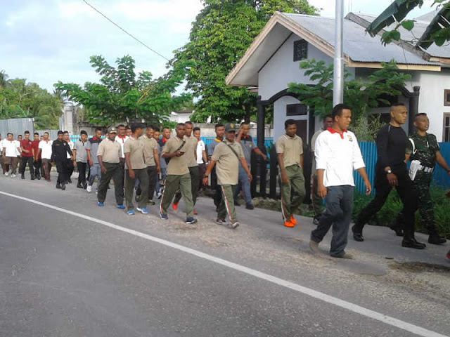 Perkuat Sinergitas, Koramil Dobo Gelar Olahraga Bersama TNI-Polri