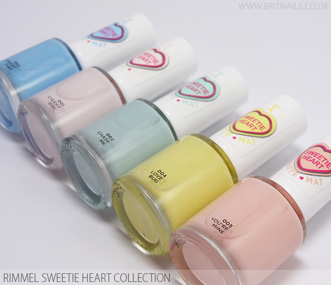 Rimmel Sweetie Heart Matte Collection
