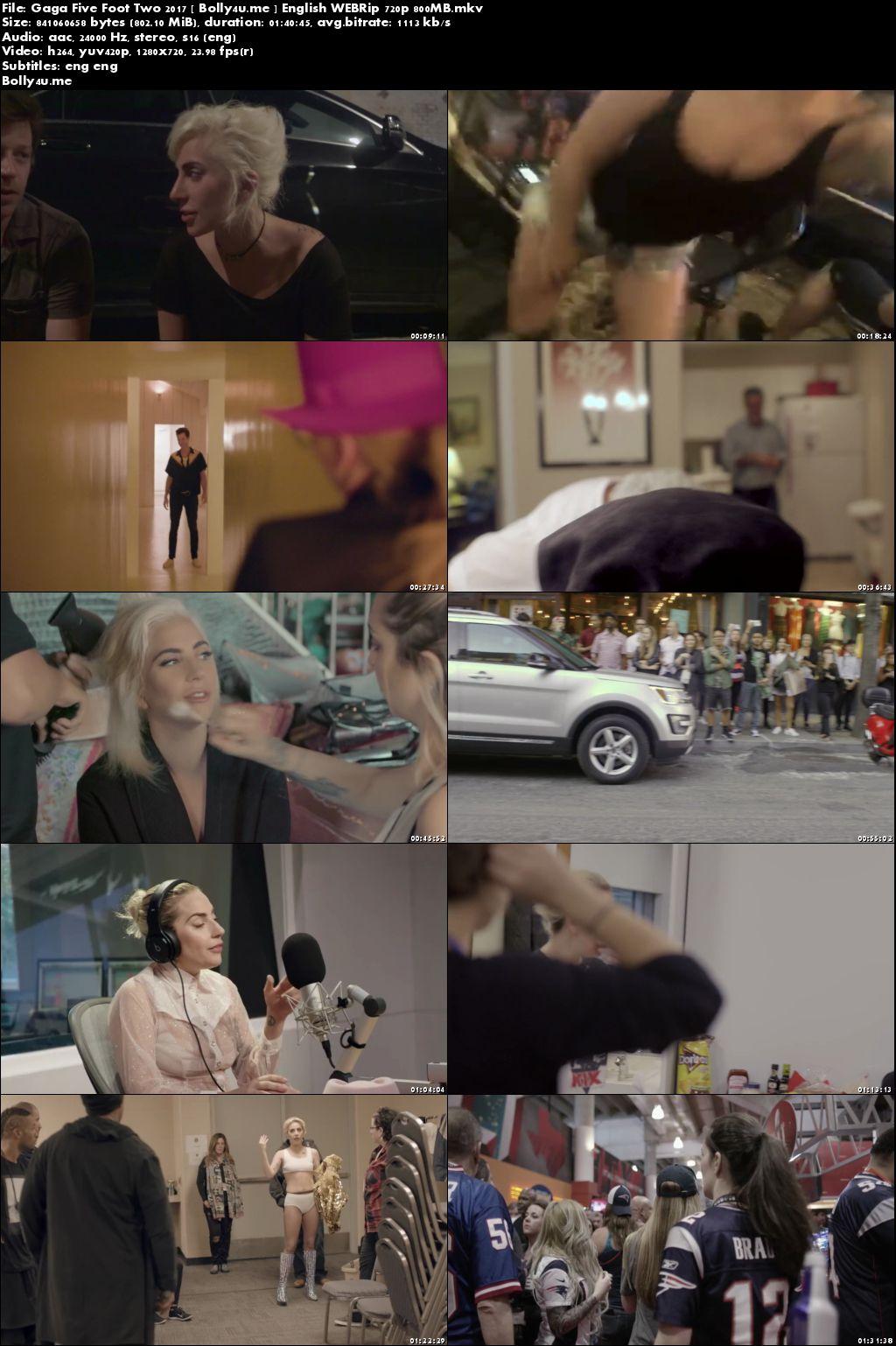 Gaga Five Foot Two 2017 WEBRip 800MB English Movie 720p Download