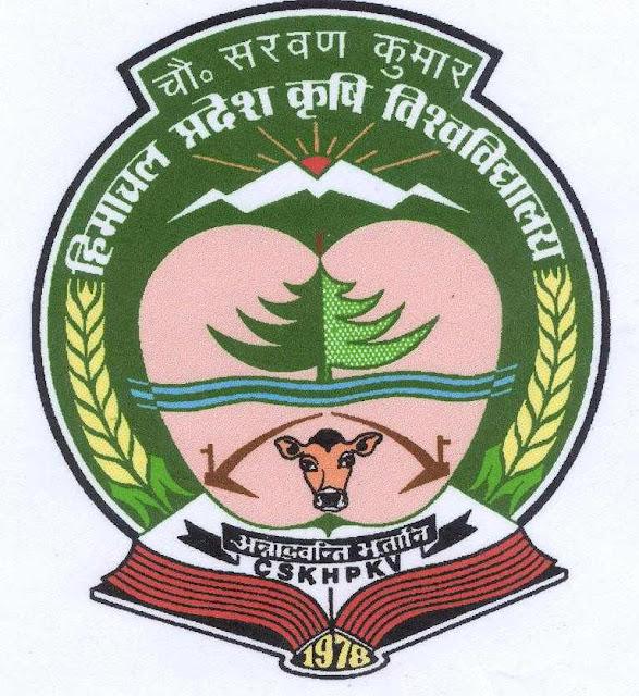 CSK Himachal Pradesh Krishi Vishvavidyalaya Recruitment 2016