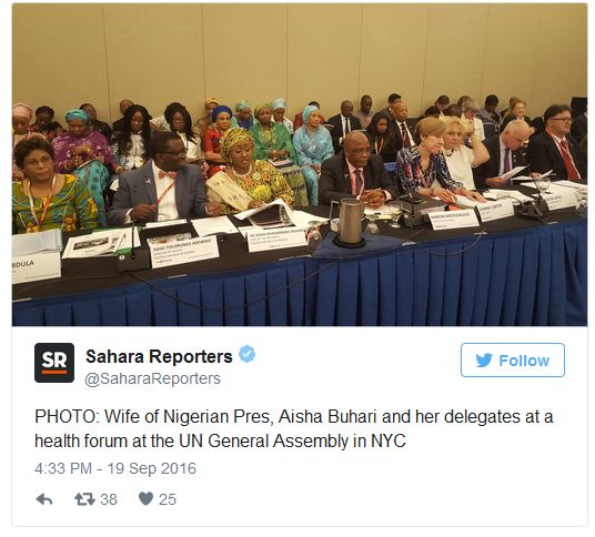 Despite Recession, Buhari And Wife Travel To New York With 108-Person Delegation