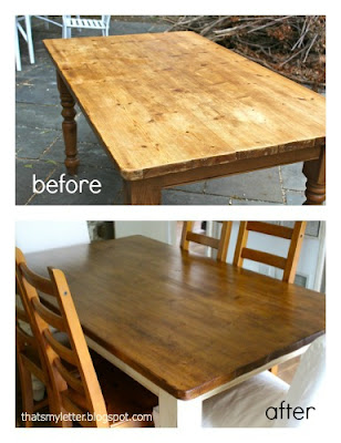 farmhouse dining table before and after