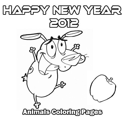 Happy New Years Pages Hard Coloring Pages