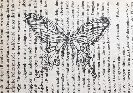 DIY Ostern Kopieren Bilder alte Buchseiten Schmetterling