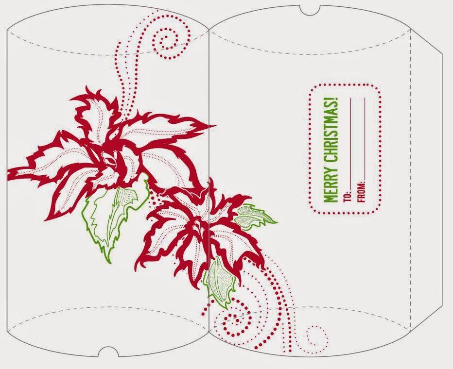 Cajas Vintage de Navidad para Descargar Gratis.