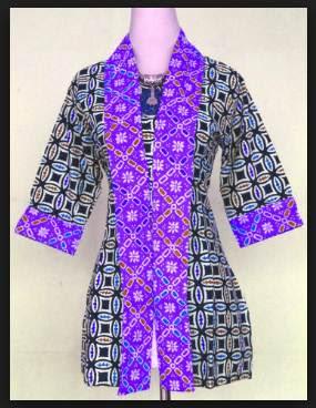 Model baju batik wanita atasan gamis