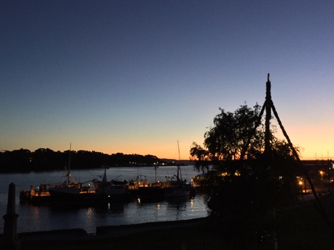 Our holidays in Tasmania, sunset over Georges river