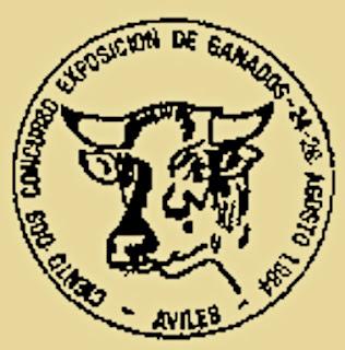 Matasellos certamen ganadería Avilés, 1984