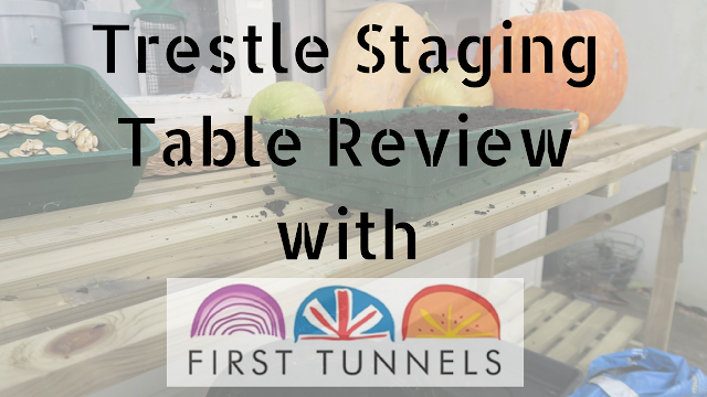 Title image trestle staging table