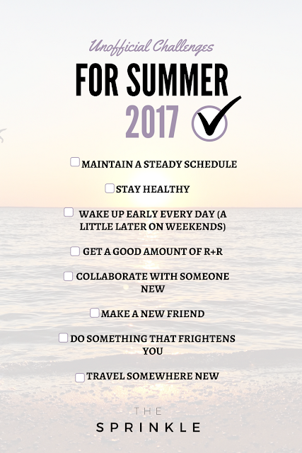 Here's to Summer 2017: Your Unofficial List of Challenges
