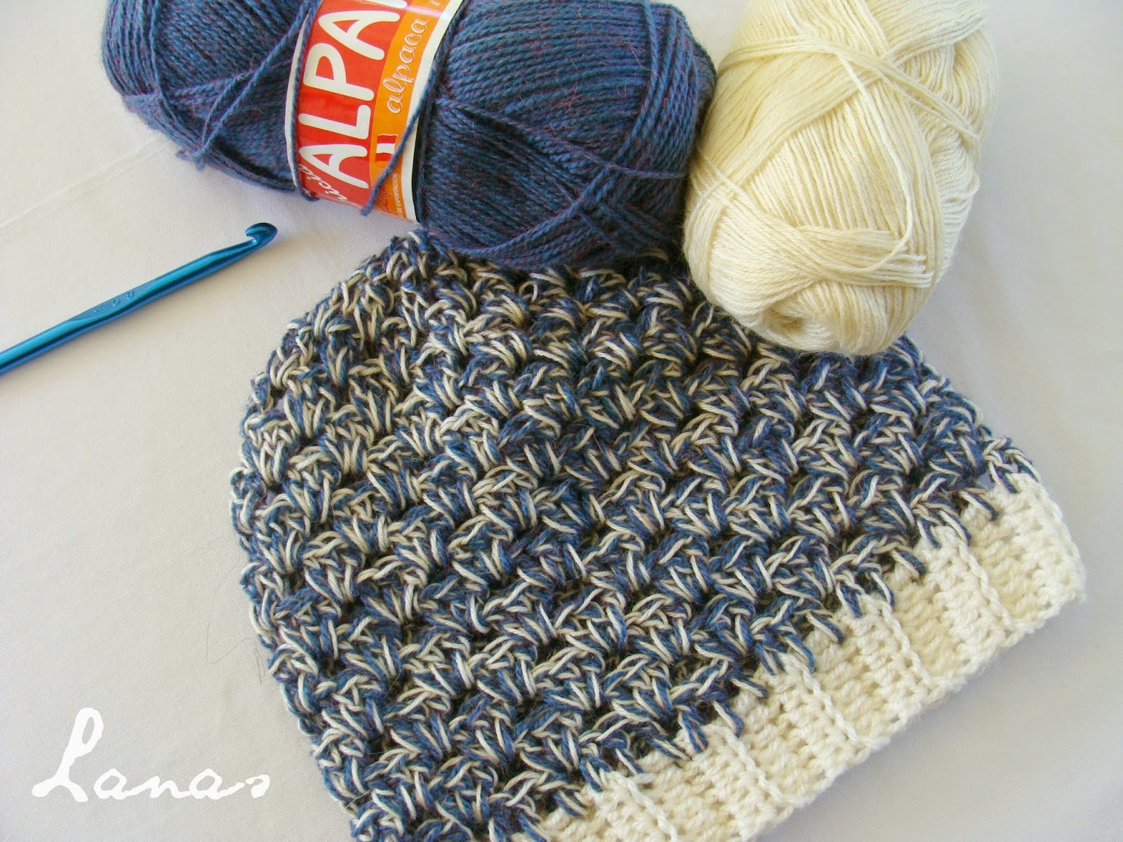 Crocheting With Two Strands Of Yarn : Lanas de Ana: Crochet Beanies and Cowls