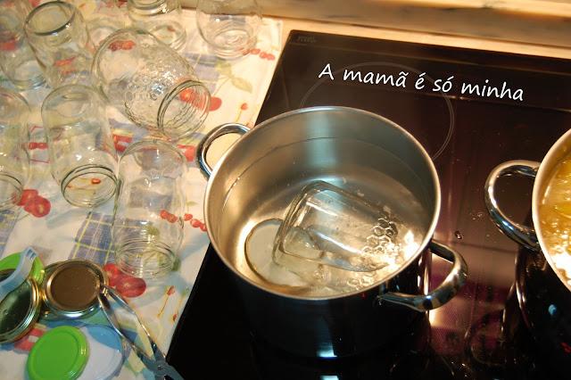 Esterilizar frascos de vidro para doces e compotas