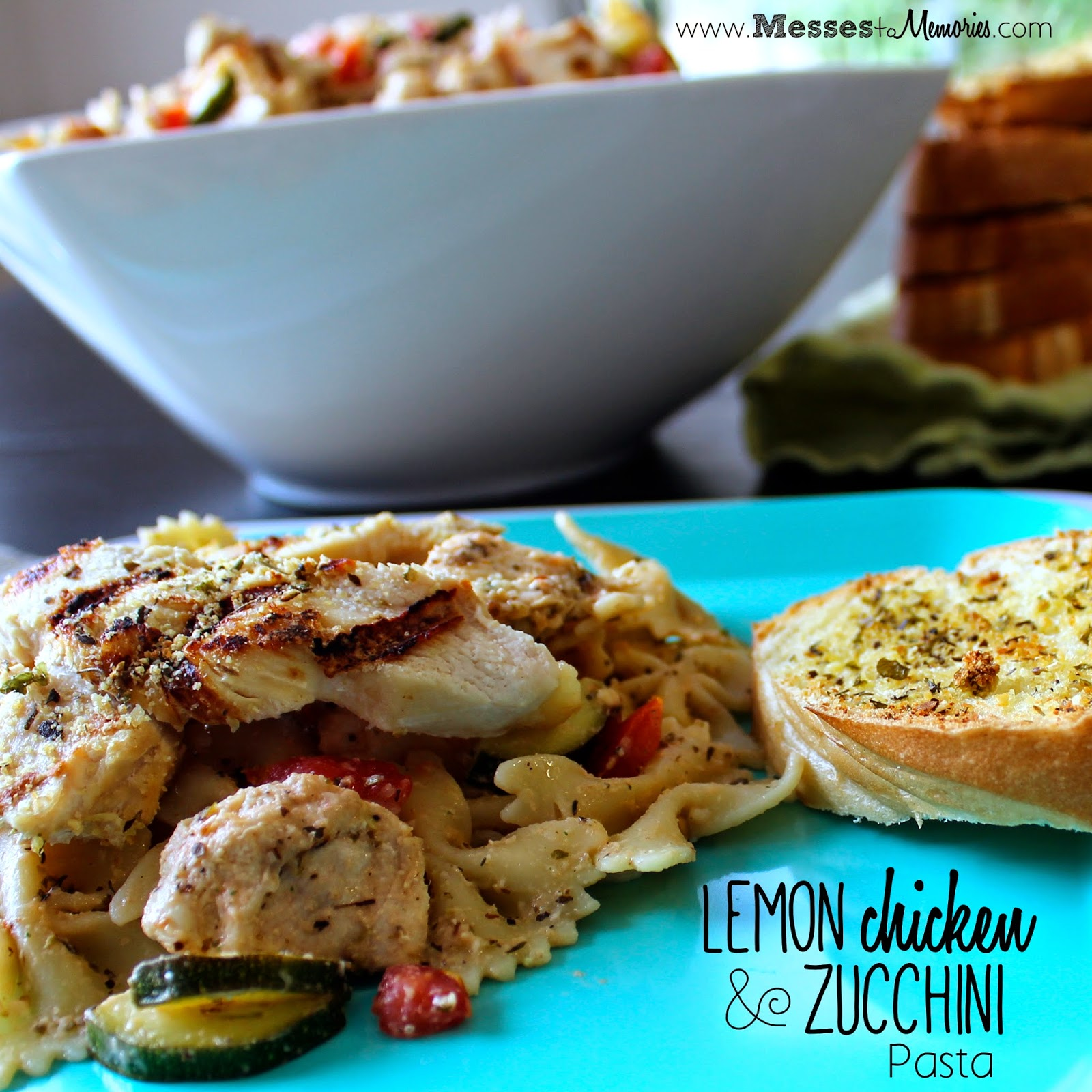 Lemon Chicken and Zucchini Pasta