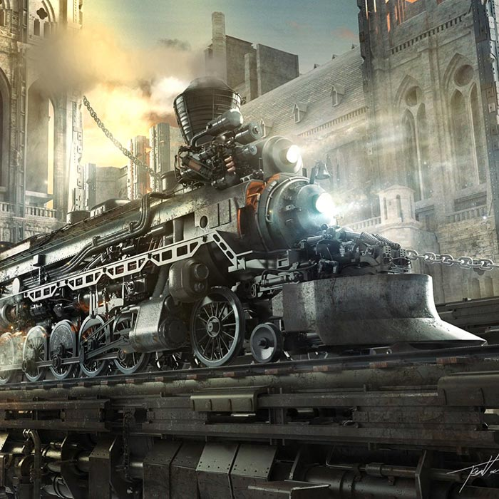 Wallpapers Of Trains: Steampunk Train Wallpaper Engine